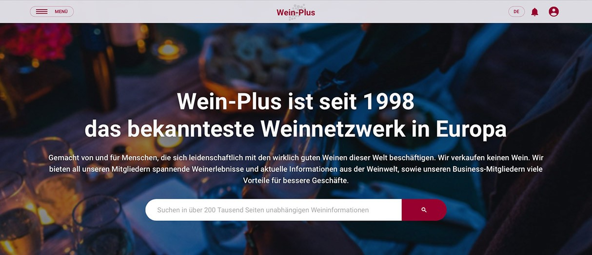 Wein-Plus Website Header