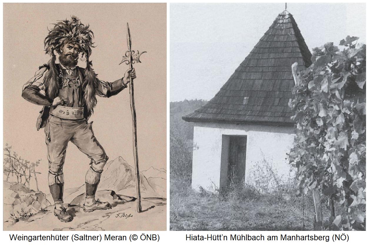 Weingartenhüter (Saltner) und Weingartenhüter-Hütte (Mühlbach a. M.)