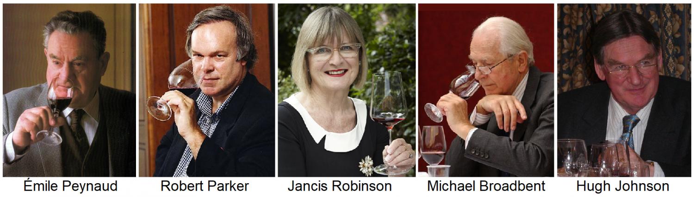 Weinkritiker: É. Peynaud, R. Parker, J. Robinson, M. Broadbent, H. Johnson