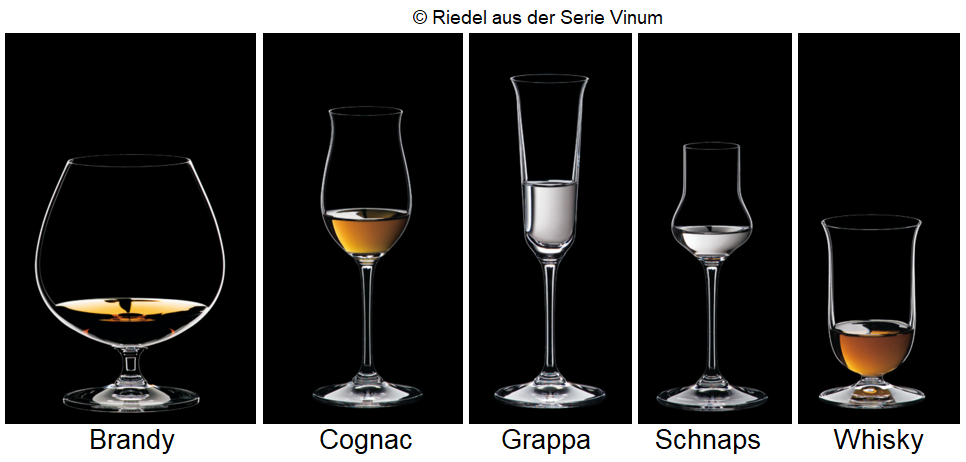 Cognac glass - different spirit glasses