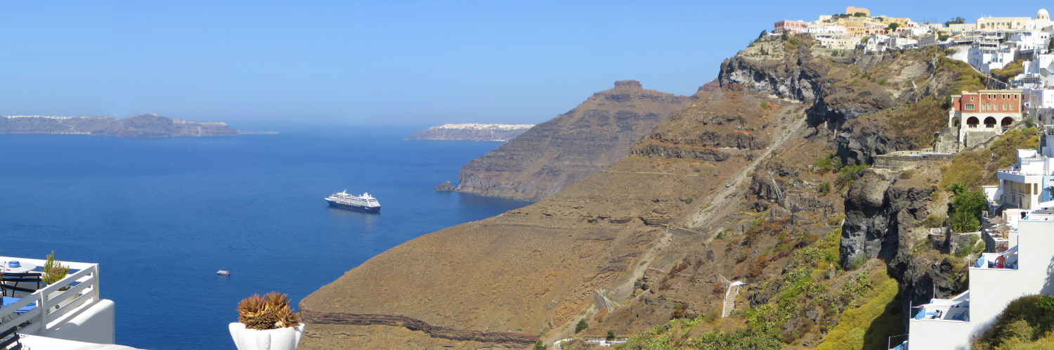 Santorini - coast and sea
