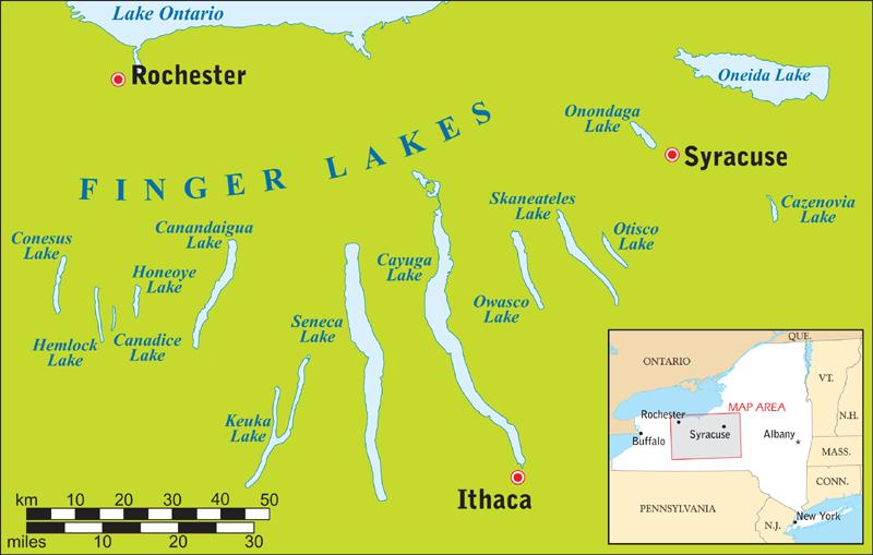 Finger Lakes   Wein-Plus Glossar