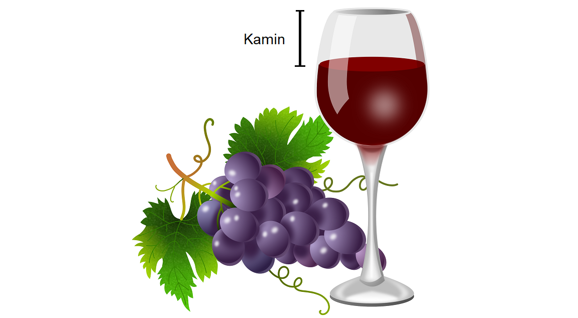 Fireplace - wine glass with grapes