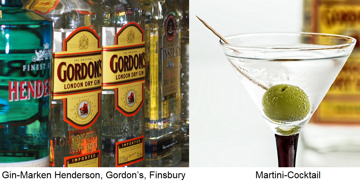 Gin brands and martini