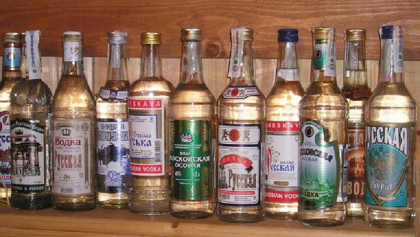 Vodka - different brands