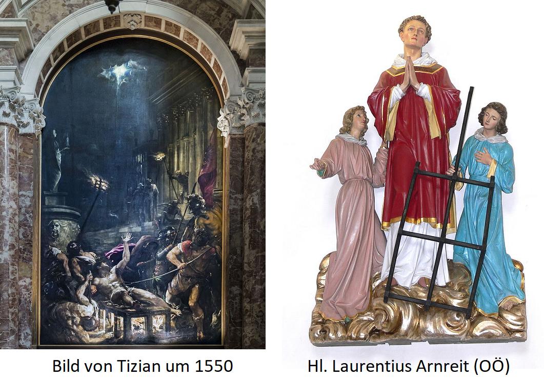 St. Laurentius - Picture of Titian un 1550 and Arnreit Upper Austria