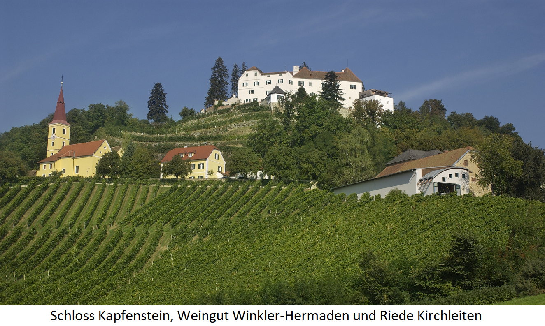 Kapfenstein Castle, Winkler-Hermaden Winery and Riede Kirchleiten