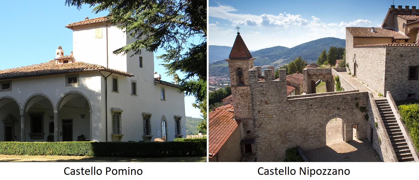 Frescobaldi - Castello Pomino und Castello Nipozzano