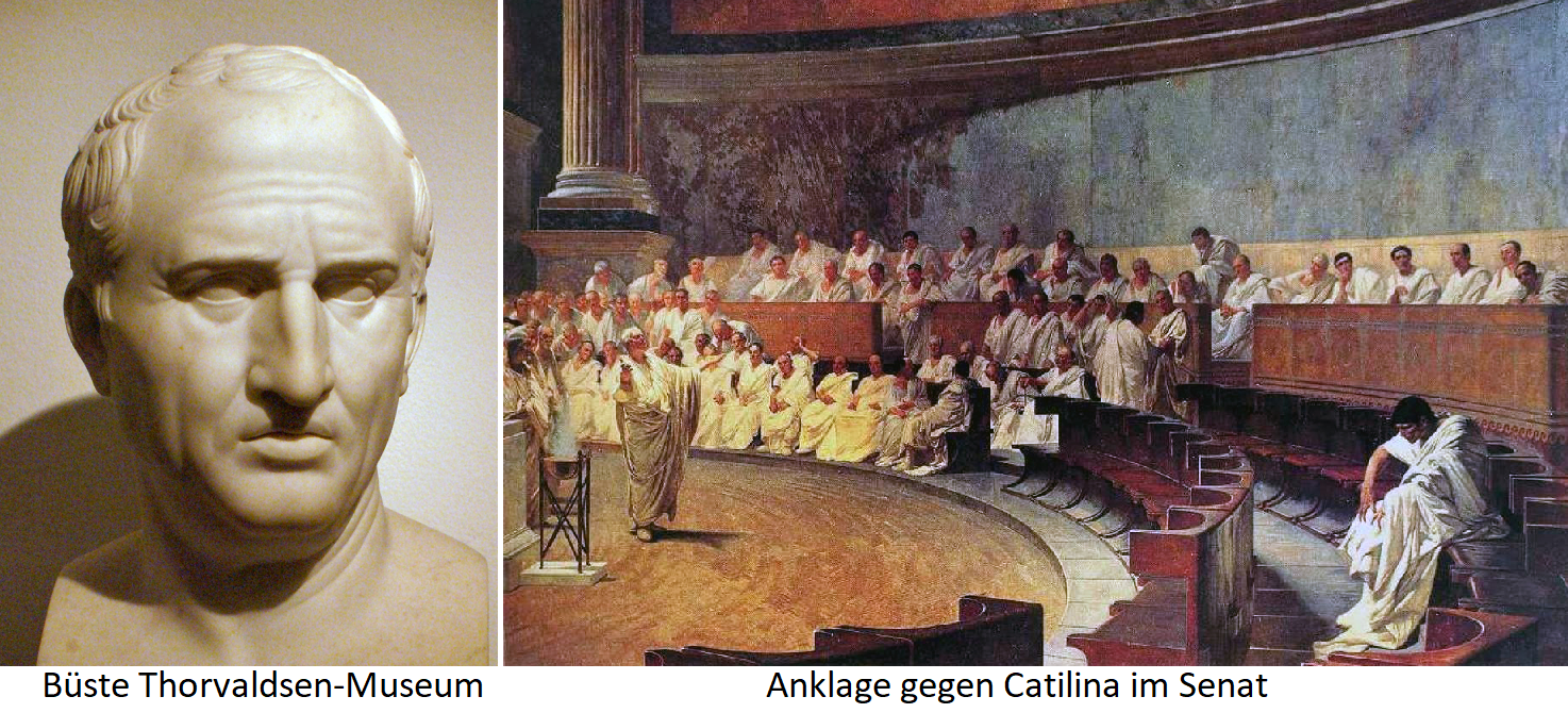 Cicero - Bust and Indictment in the Senate against Catilina