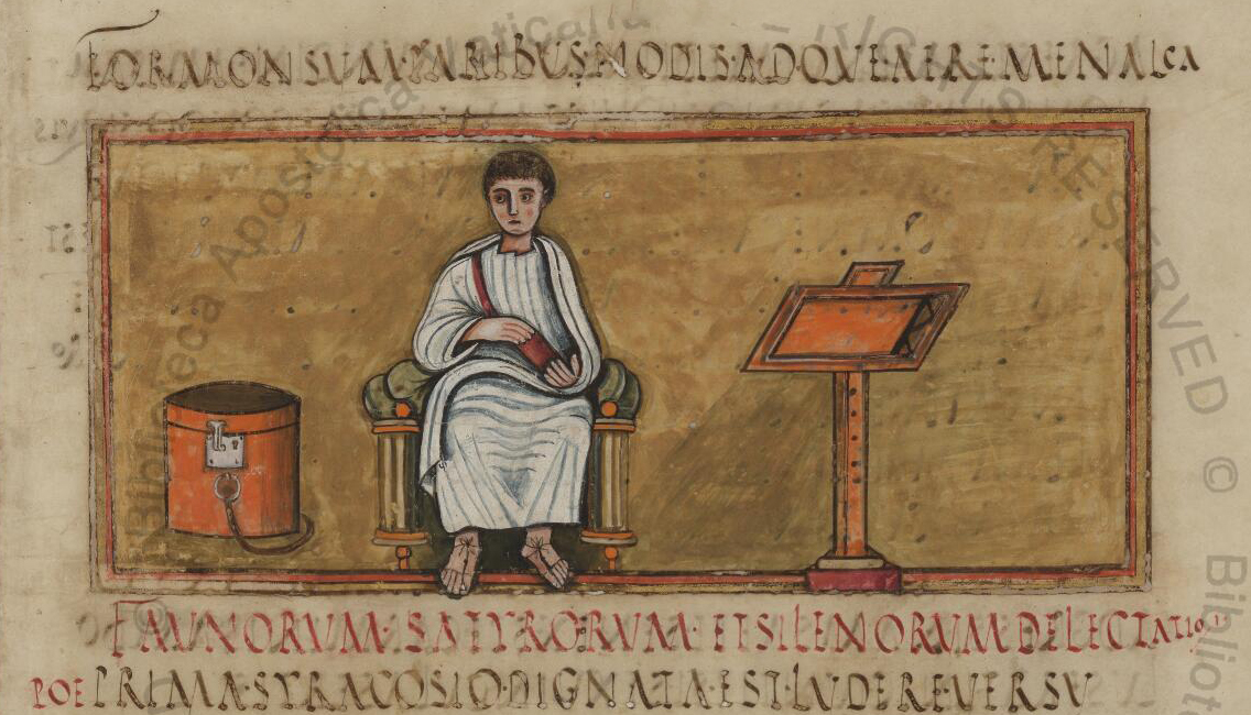 Virgil - Virgilius Romanus; an illuminated manuscript of the 5th century with texts by Virgil,