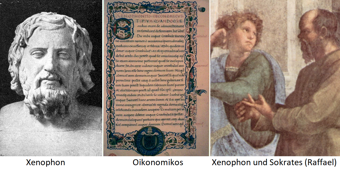 Xenophon - Page from the Oikonomiukos / Xenophon and Socrates (Raphael)