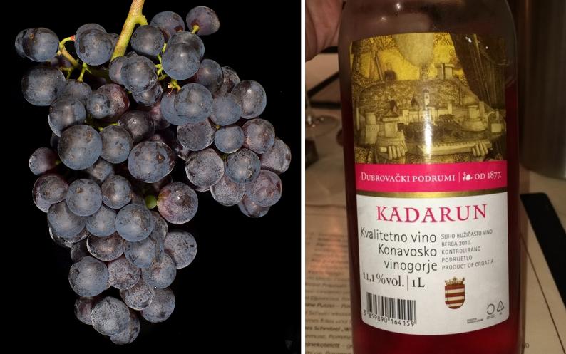 Kadarun - grape and bottle (rosé wine)