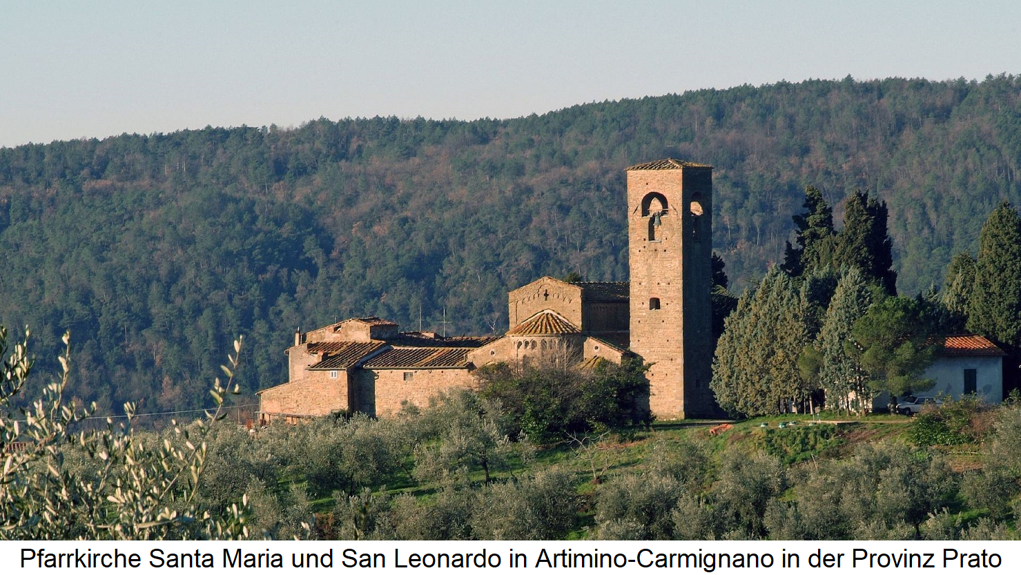 Parish Church of Santa Maria and San Leonardo in Artimino-Carmignano in the province of Prato