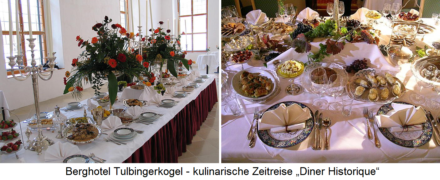 Berghotel Tulbingerkogel - culinary journey through time