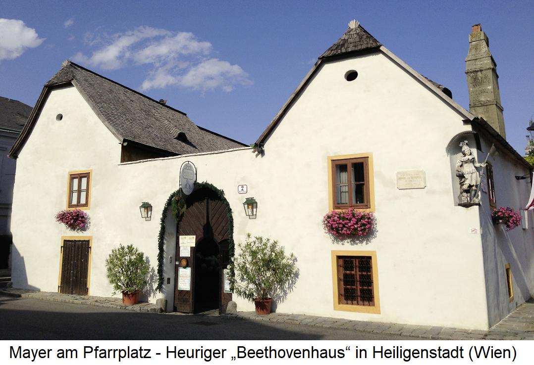 Mayer am Pfarrplatz - Heuriger Beethovenhaus in Heiligenstadt