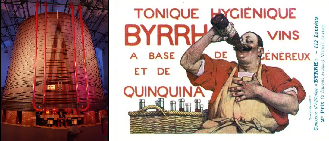 Byrrh - barrel with 1,000.00 liters and advertising poster