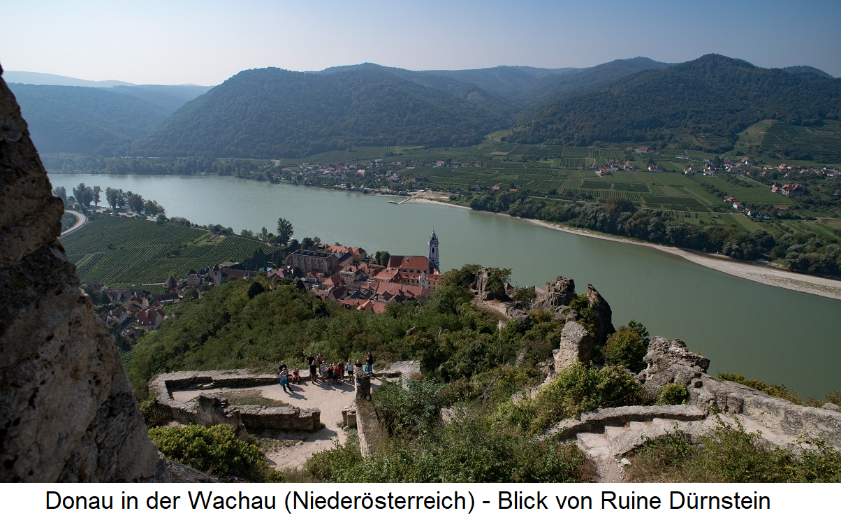 Waters - Danube in the Wachau (Lower Austria) - View from Ruine Dürnstein