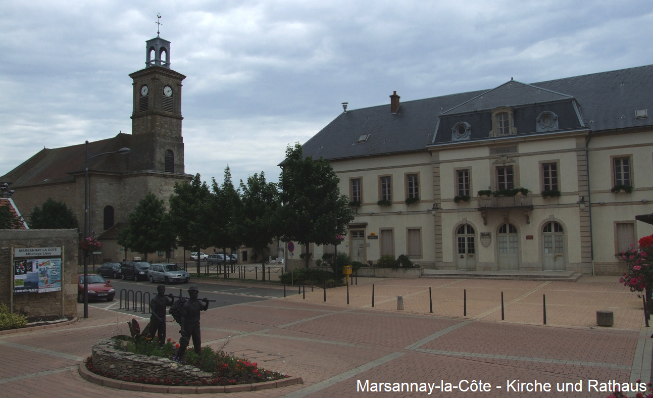 Marsannay-la-Côte - Kircvhe and town hall
