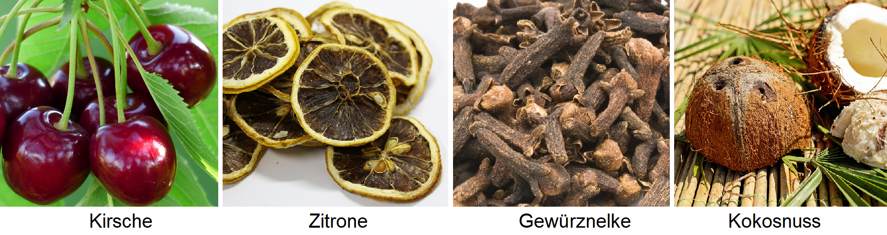 Aromas - cherry, lemon, clove, coconut