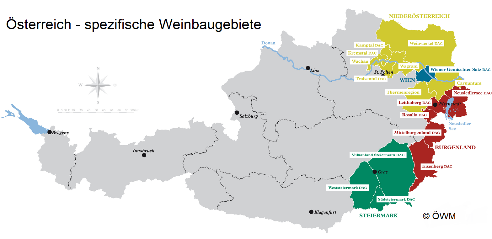 Austria - specific winegrowing areas or DAC areas
