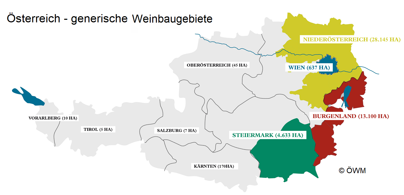 Austria - generic winegrowing areas