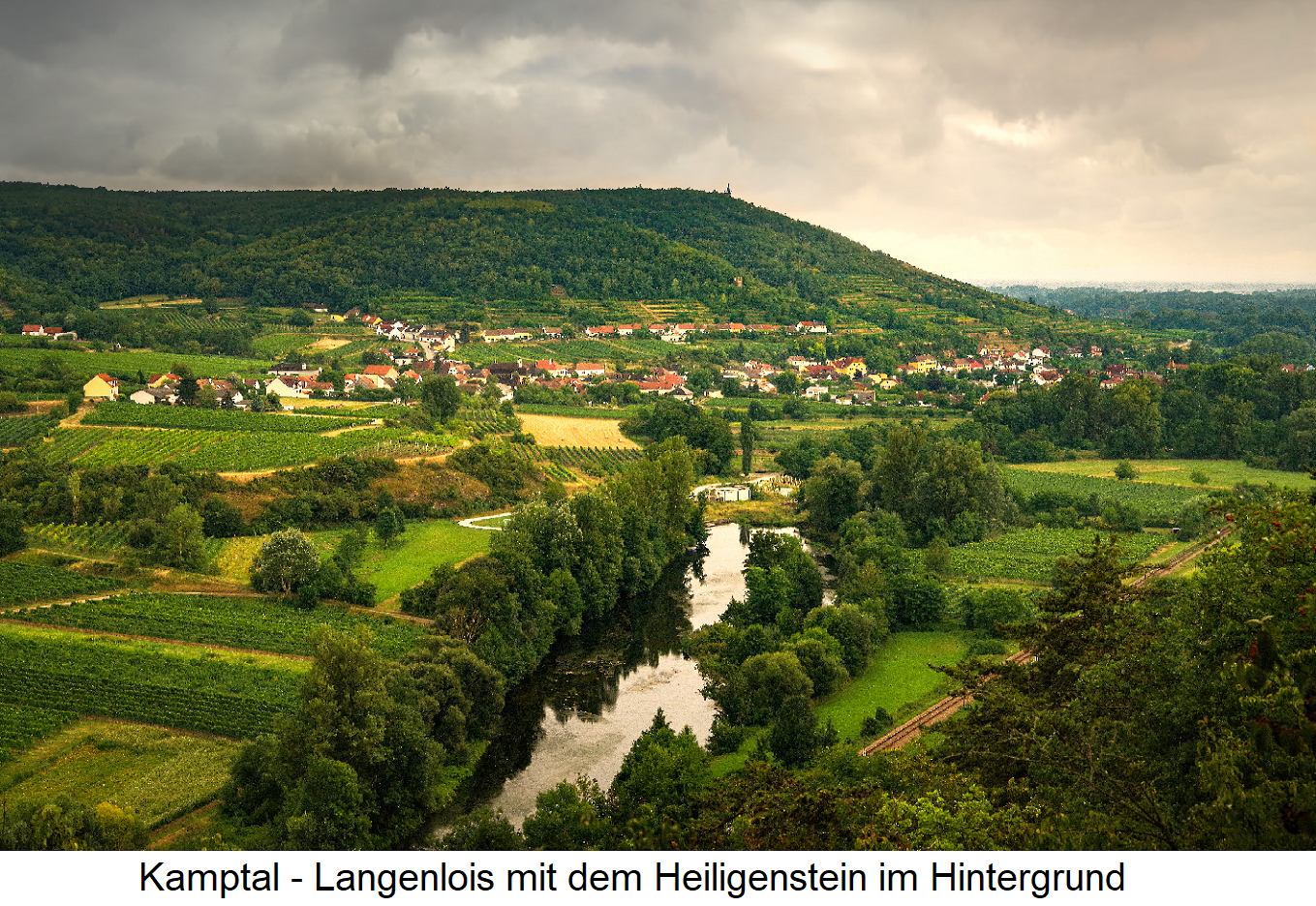 Kamptal - Langenlois with the Heiligenstein in the background