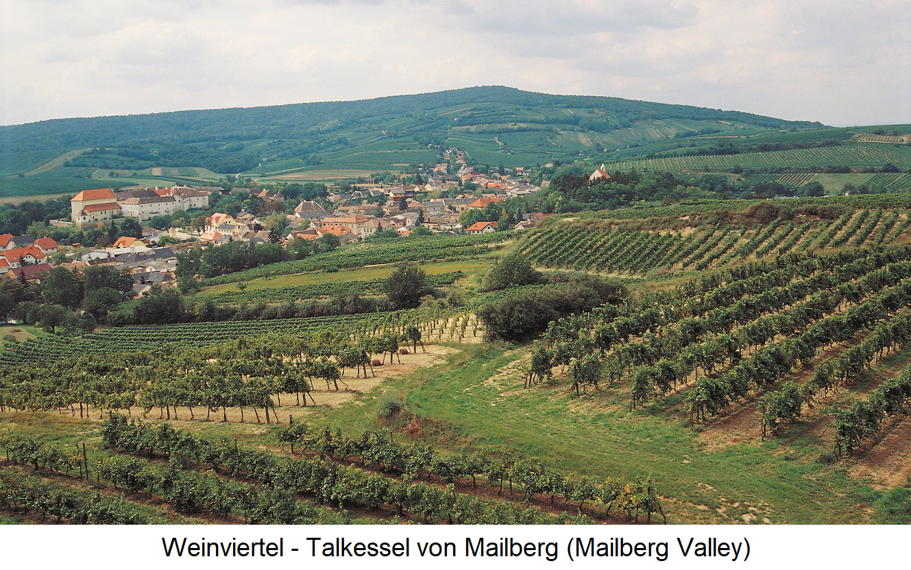 Mailberg - valley basin of Mailberg with vineyards