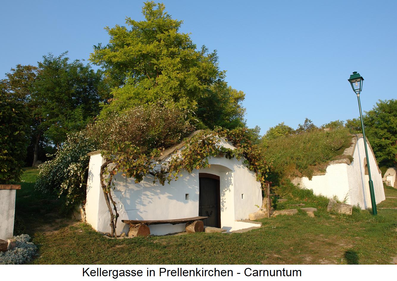 Kellergasse - Prellenkirchen in Carnuntum (Lower Austria)