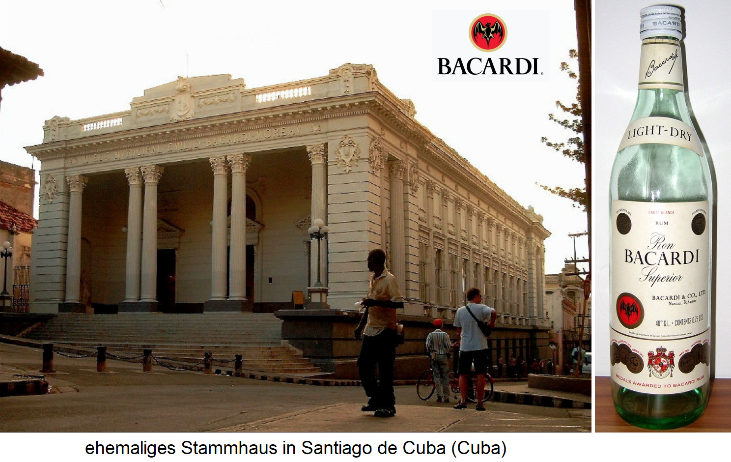 Bacardi-Martini Limited - former home in Santiago de Cuba and white rum
