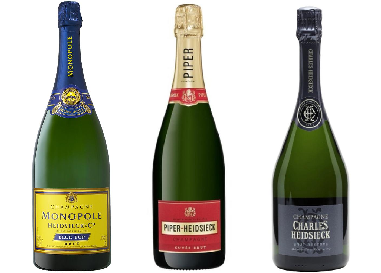 Heidsieck - three bottles (Heidsieck monopolies, Piper-Heidsieck and Charles Heidsieck