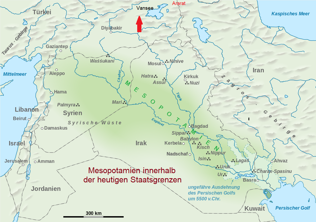 Iraq - Map of Mesopotamia