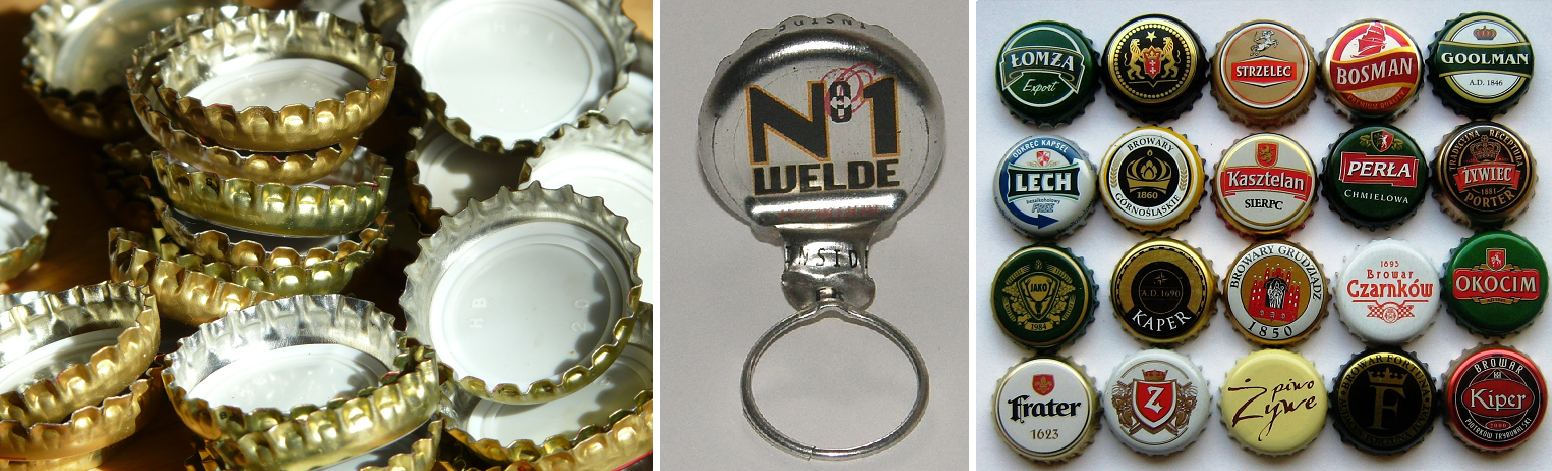 Bottle caps - Bottle caps with pull tab and bottle cap collection