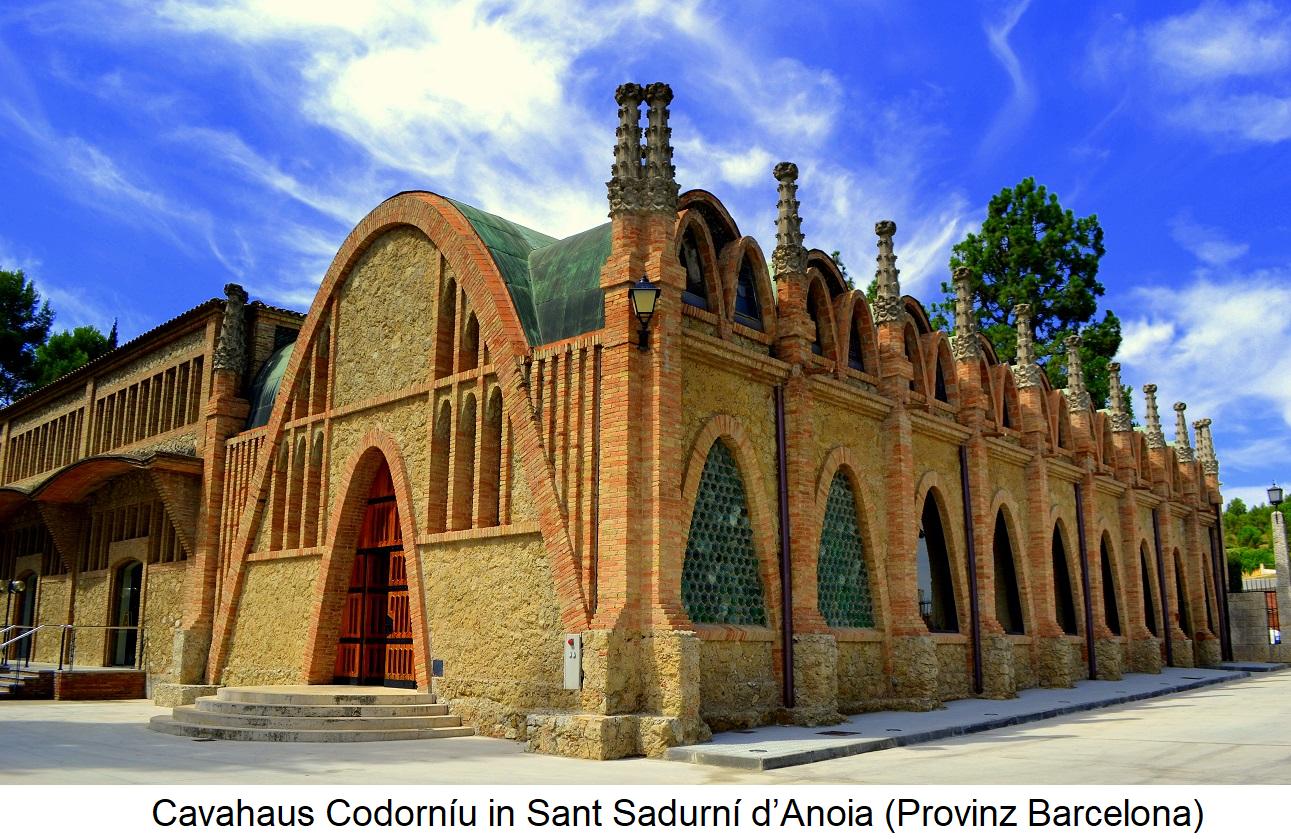 Cavornaus Codorníu in Sant Sadurní d'Anoia (Province of Barcelona)