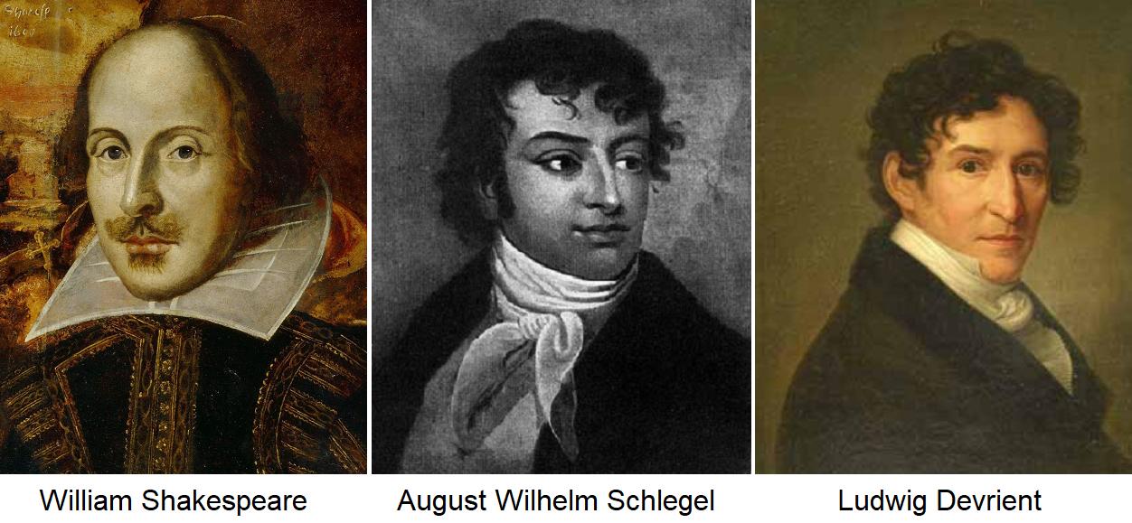 Sparkling wine - William Shakespeare, August Wilhelm Schlegel and Ludwig Devrient