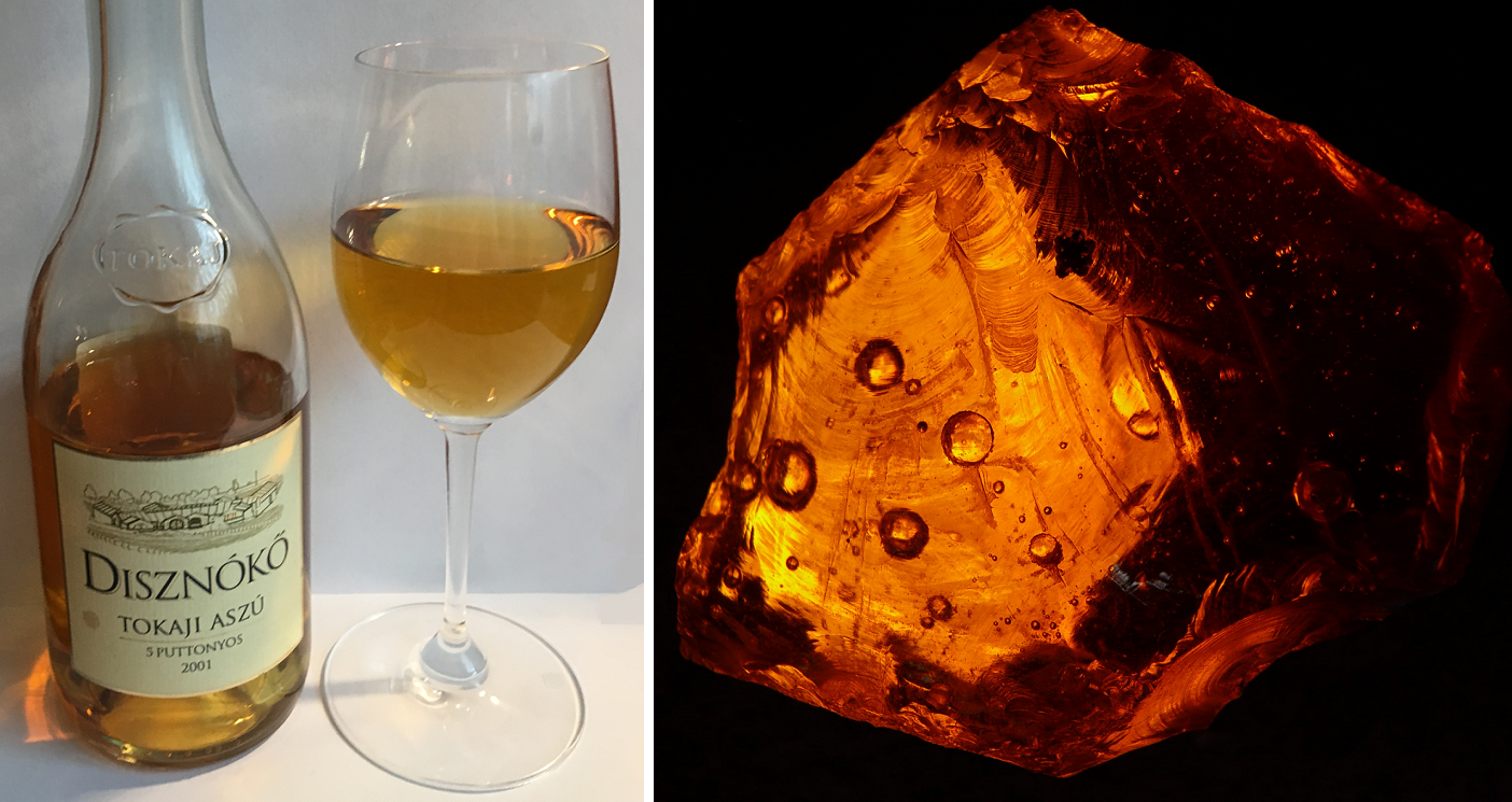 Tokaj Aszu - bottle and poured glass / amber