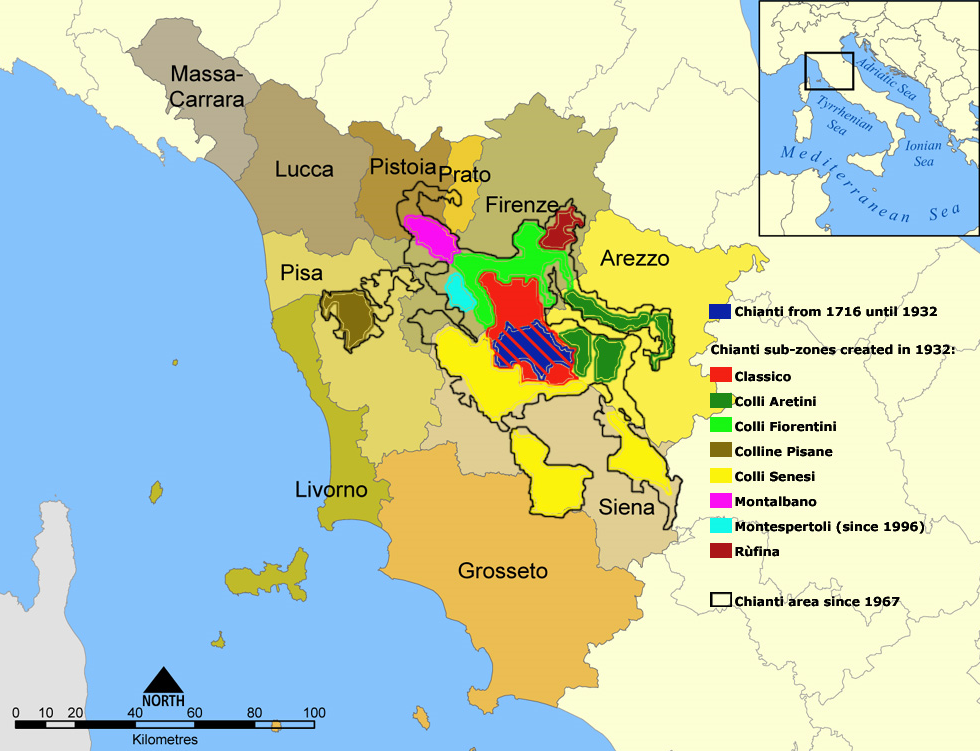 Chianti areas