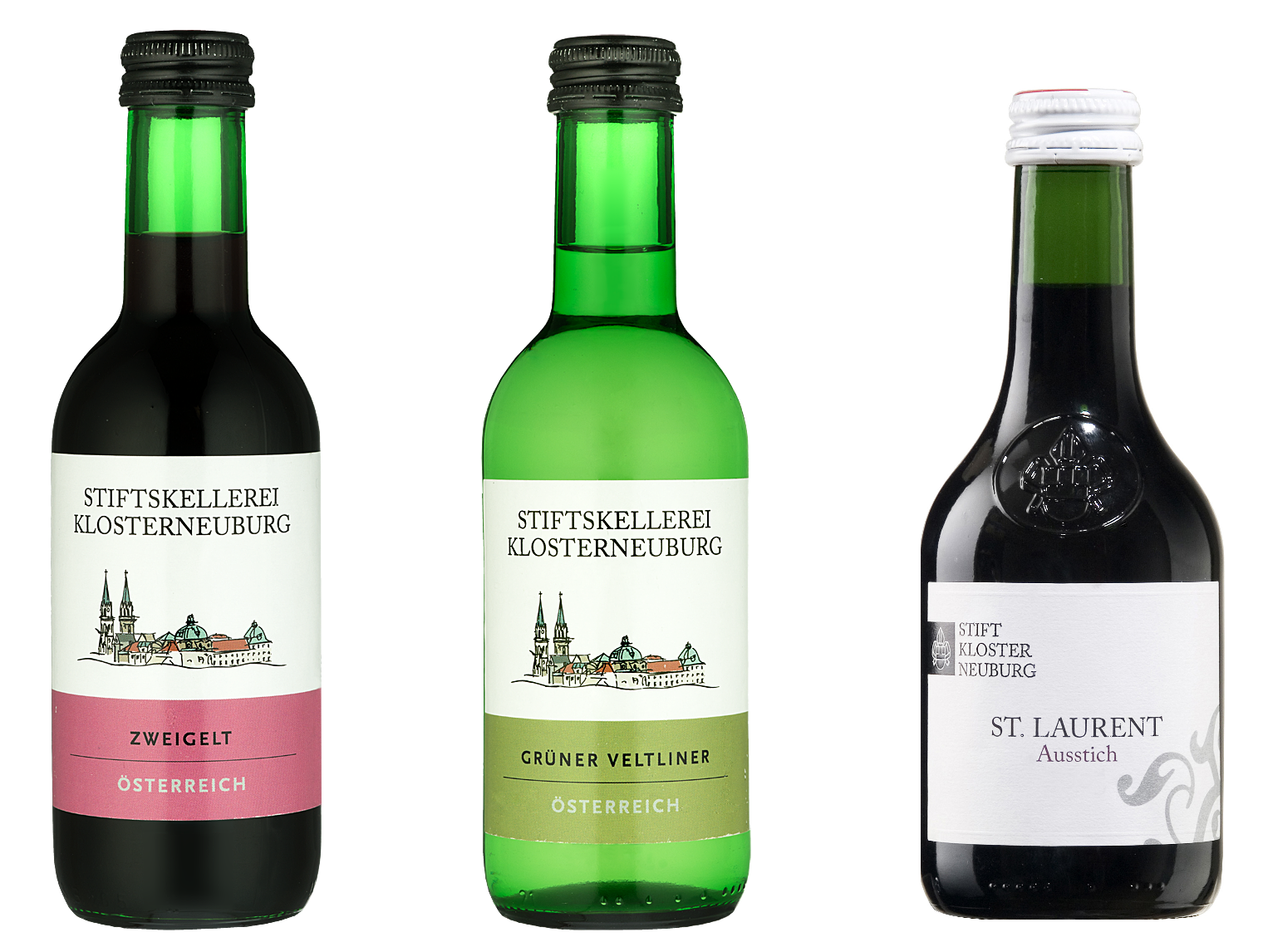 Stifterl - bottles with Zweigelt, Grüner Veltliner and St. Laurent