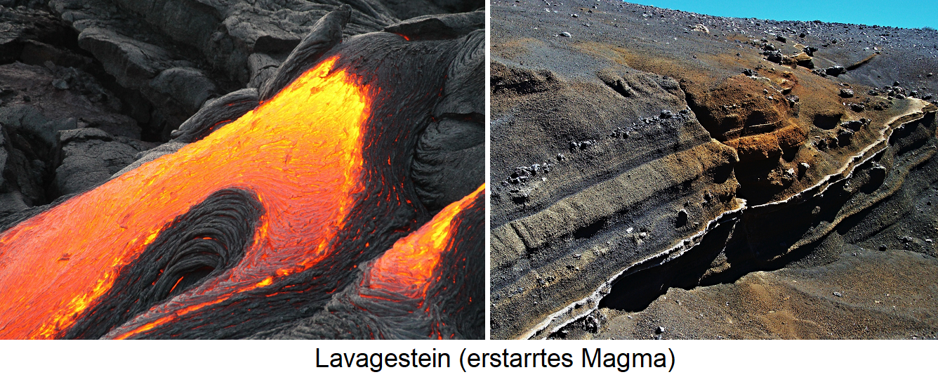 Geology - lava rock (solidified magma)