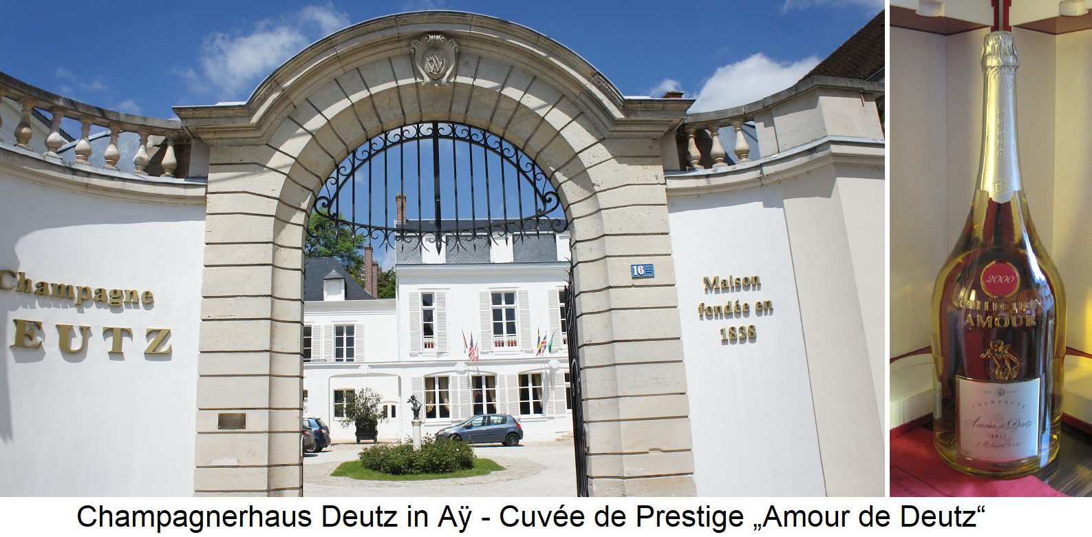 Deutz - Headquarters in Ay and Cuvée de Prestige