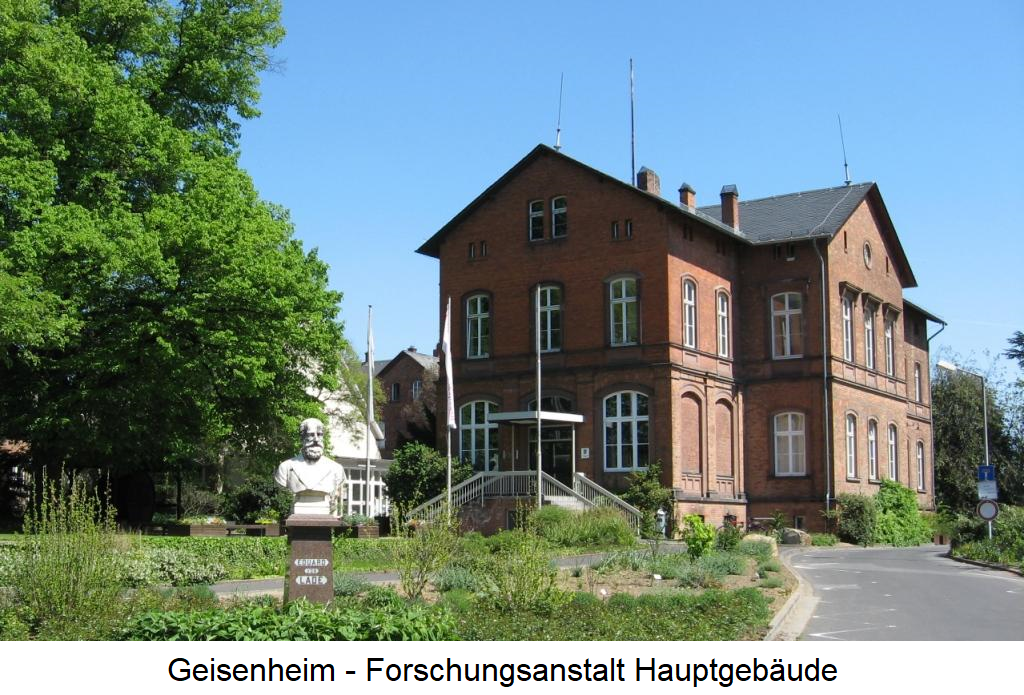 Viticulture training - Geisenheim research institute main building