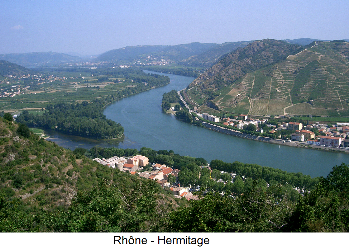 Hermitage - The Rhône with the Hermitage vineyard