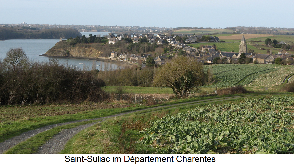 Saint-Suliac in the department of Charentes