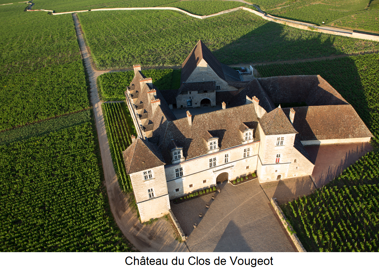 Clos de Vougeot - Château du Clos de Vougeot with surrounding vineyards