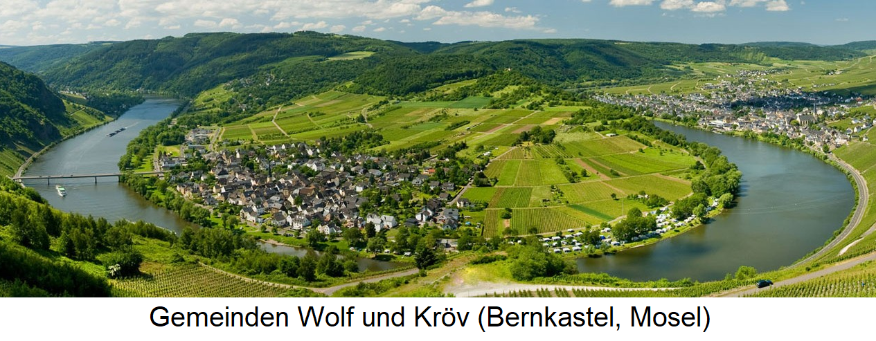 Mosel - Gemeinden Wolf und Kröv (Bernkastel, Mosel)