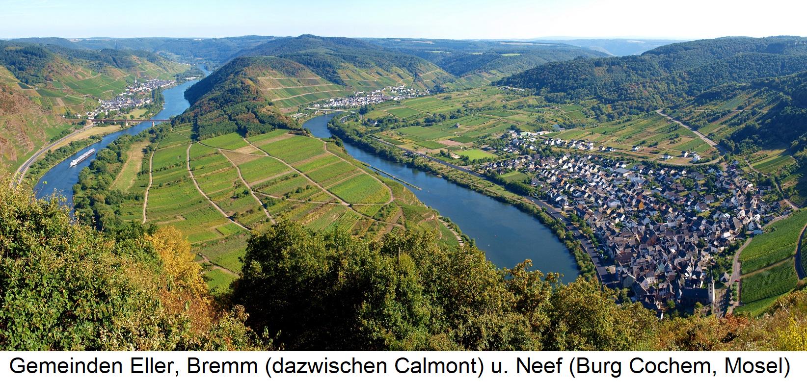 Mosel - Gemeinden Eller, Bremm und Neef (Burg Cochem, Mosel)
