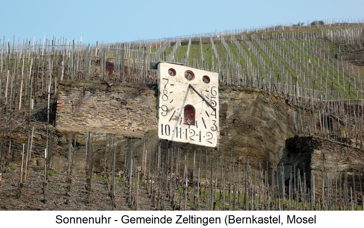 Sundial - Zeltingen (Bernkastel, Mosel)