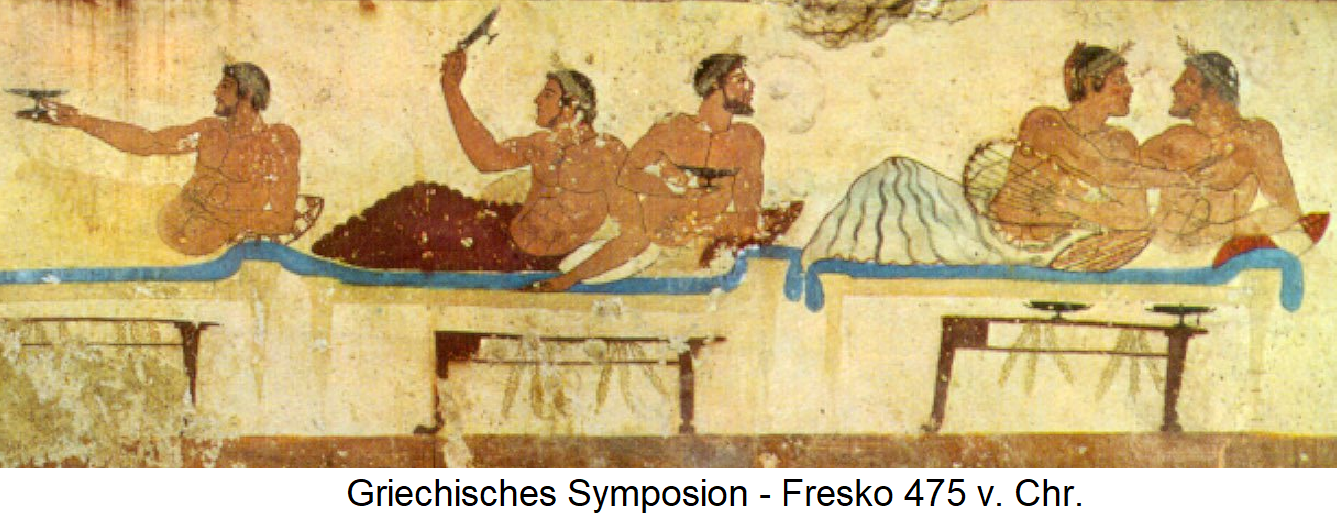 Greek Symposium - Fresco 475 BC Chr.