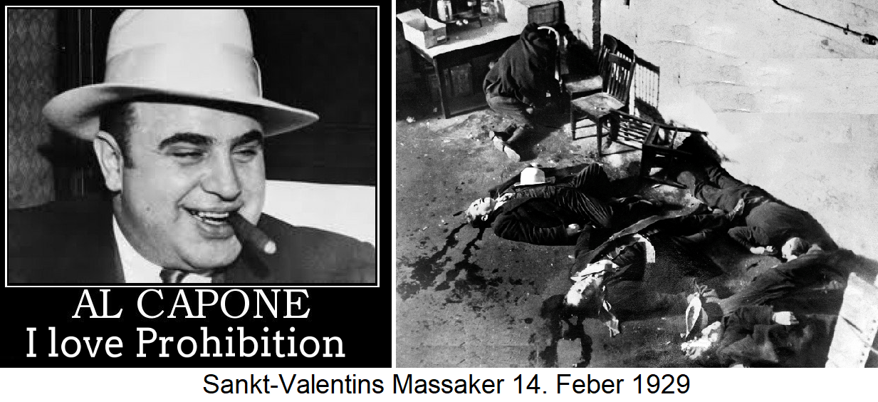 Prohibition - Al Capone and Massacre St. Valentine's Day 14.2.1929