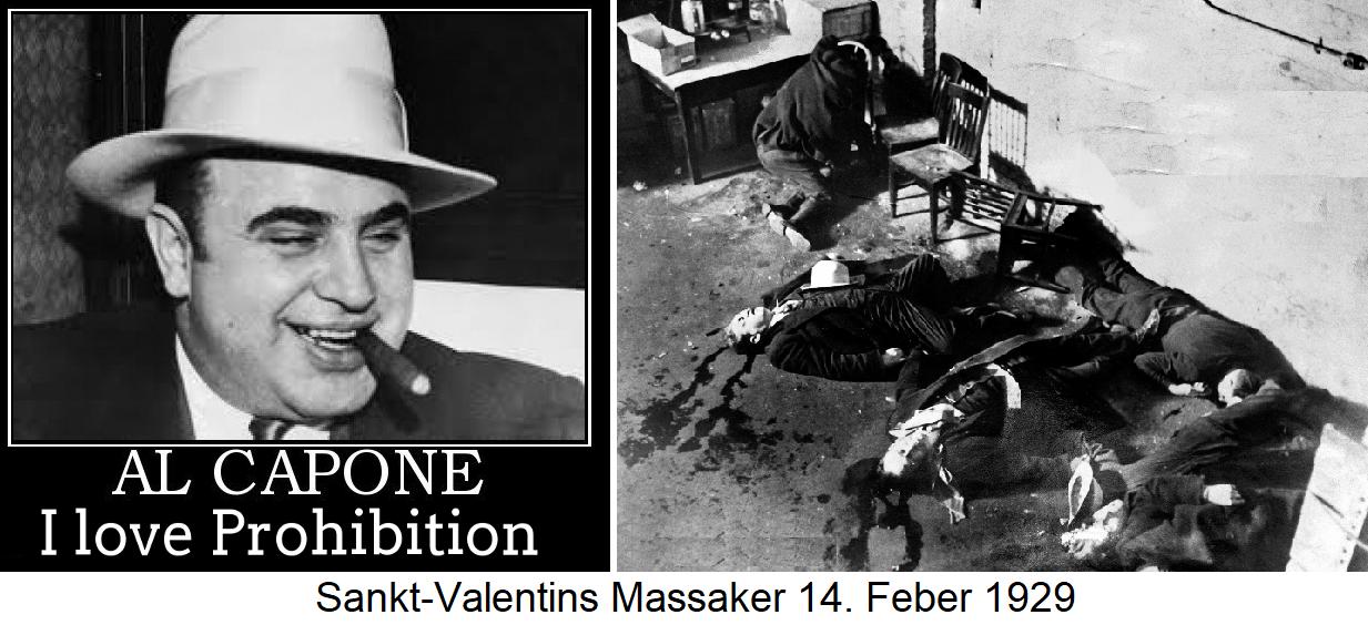 Prohibition - Al Capone and Massacre St. Valentine's Day 14.2.1929