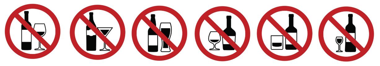 Prohibition - alcohol prohibition signs